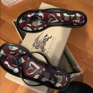 Burberry Jelly Flip Flops